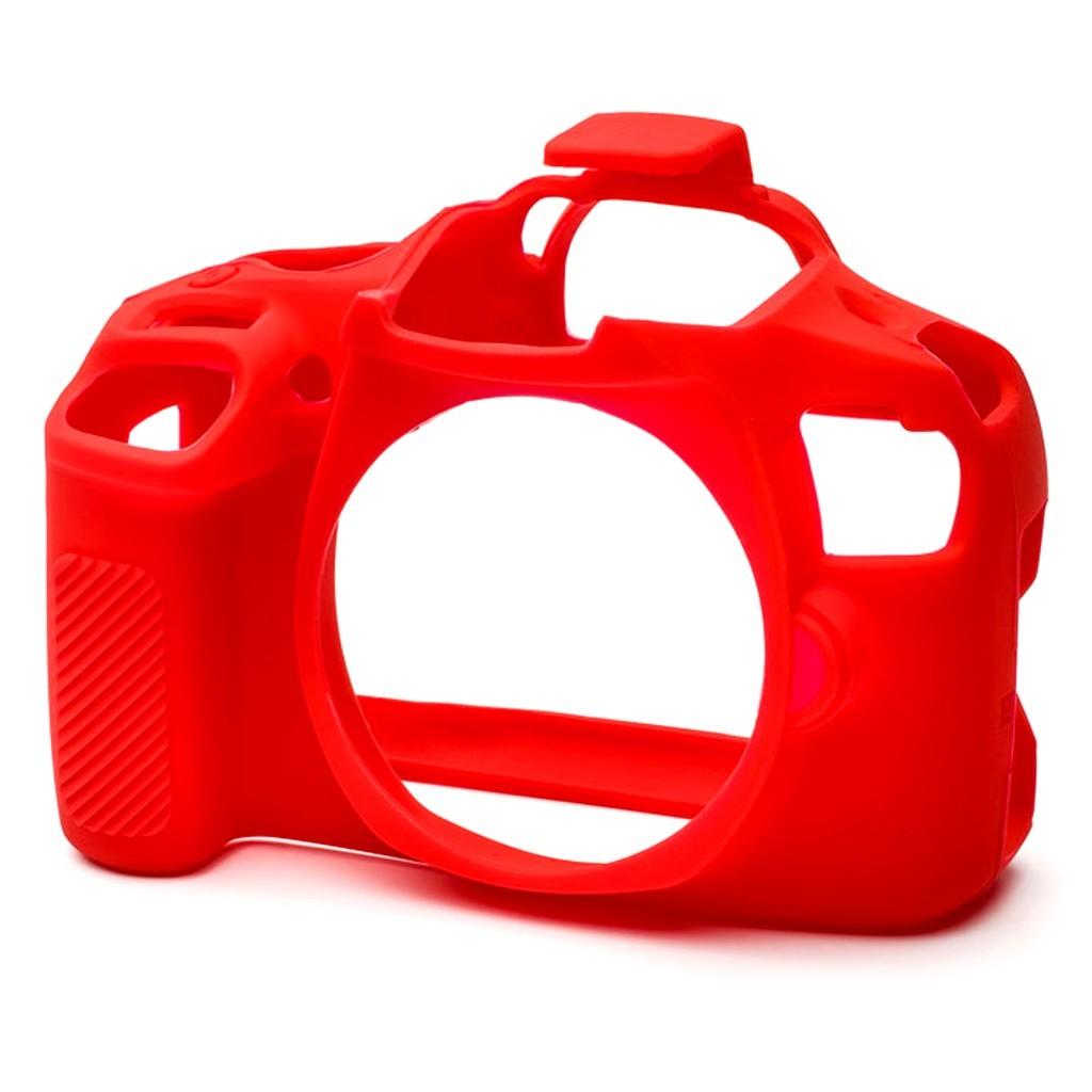 Osłona silikonowa easyCover do aparatów Canon EOS 4000D/ T100 czerwona