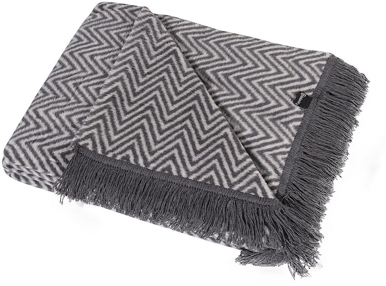 Koc Cotton Cloud 150x200cm Grey Chevron