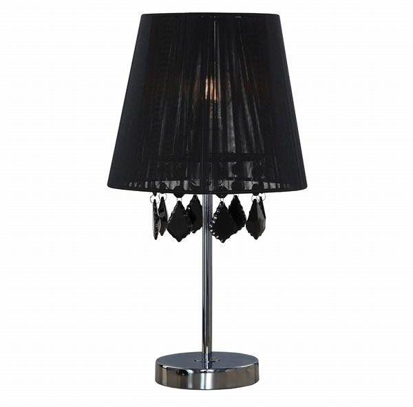 Lampa biurkowa czarna MONA z kryształkami