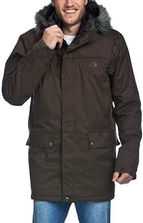 Tatonka Męski płaszcz Axtell parka brązowy szary (Graphite) XXL