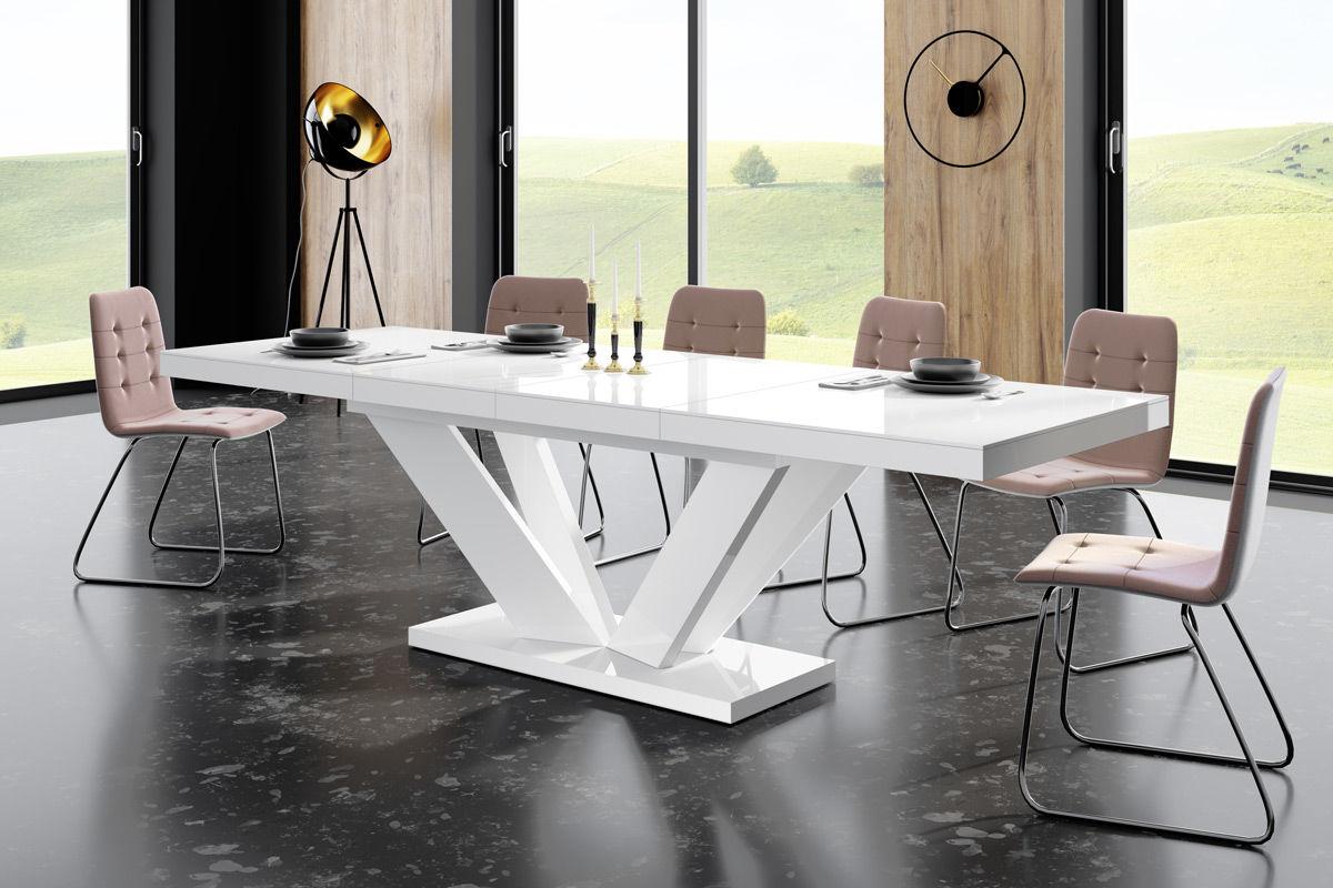Stół VIVA 2 biały połysk rozkładany do jadalni  KUP TERAZ - OTRZYMAJ RABAT
