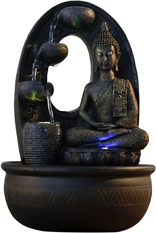 Zen''Light Harmonie fontanna z żywicy poliestrowej, czarna, 26 x 16 x 40 cm