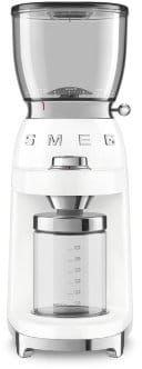 Smeg - Elektryczny młynek do kawy CGF01WHEU - 10% rabatu przy zakupie min. 2 produktów SMEG, wpisz kod smeg10
