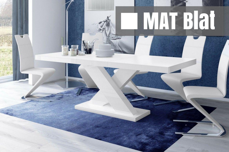 Stół rozkładany Xenon biały SUPER MAT