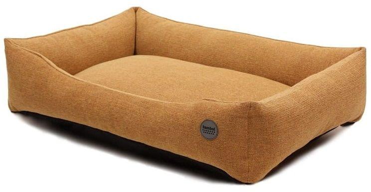 Bambol - plamoodporne, eleganckie legowisko dla psa w kolorze miodowym M: 53 x 75 cm