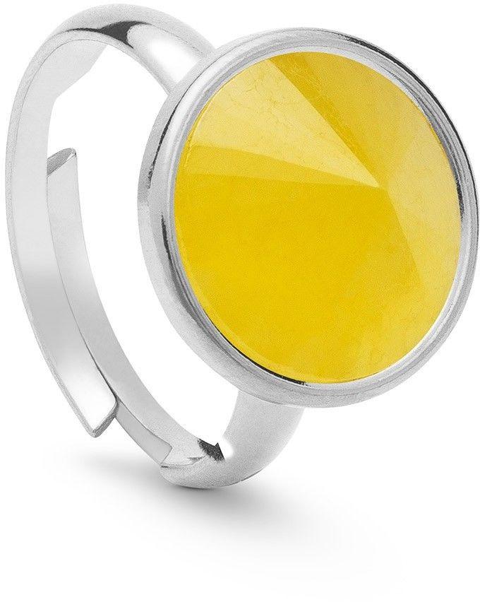 Srebrny pierścionek kamień naturalny chalcedon, srebro 925 : Kamienie naturalne - kolor - chalcedon żółty , ROZMIAR PIERŚCIONKA - Uniwersalny - (min. 11 - 16,00 MM / max. 18 - 18,33 MM), Srebro - kolo