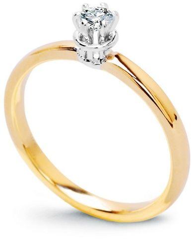 Staviori pierścionek. 1 diament, szlif brylantowy, masa 0,15 ct., barwa g, czystość si1. żółte, białe złoto 0,585. średnica korony ok. 4,2 mm. wysokość 4,3 mm. szerokość obrączki ok. 2,2 mm. dostępny z dowolnym innym brylantem na indywidualne zamówienie.