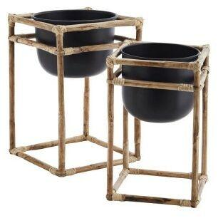 Zestaw bambusowych stojaków z doniczkami Madam Stoltz