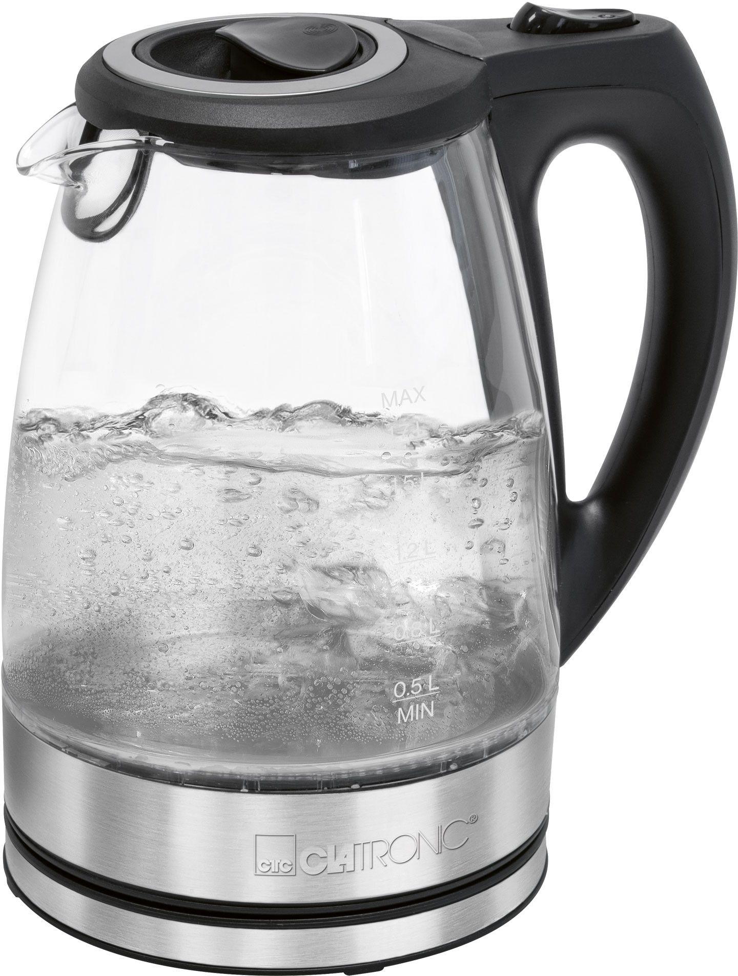 Bezprzewodowy szklany czajnik elektryczny Clatronic WKS 3744 G
