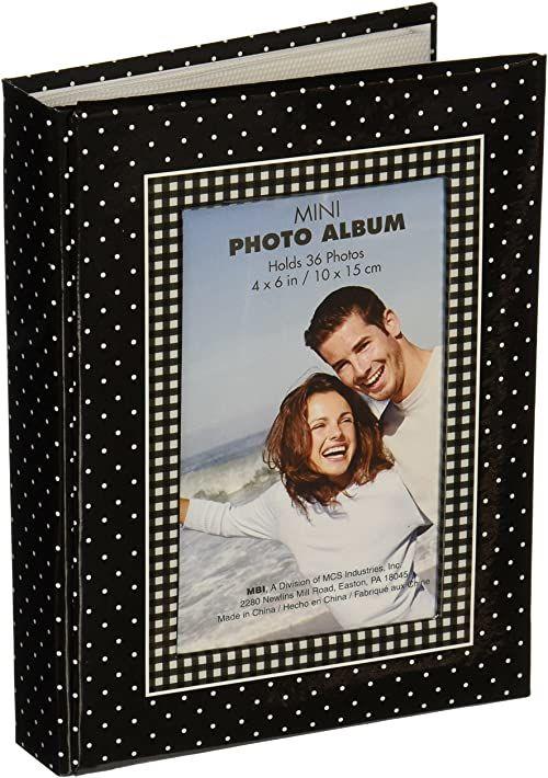 MBI 4 x 6 Dots torebki Brag Book, czarne/białe