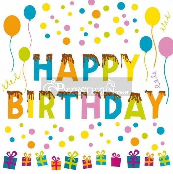 SERWETKI PAPIEROWE - URODZINOWE - Happy Birthday