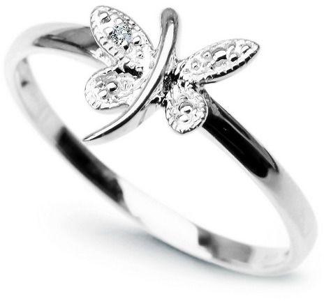 Staviori pierścionek. 1 diament, szlif achtkant, masa 0,005 ct., barwa h, czystość i1. białe złoto 0,585. średnica korony ok. 8x9 mm. szerokość obrączki ok. 1,5 mm.