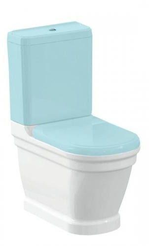 ANTIK Miska WC ceramiczna stojąca 37x63 cm odpływ poziomy AN360