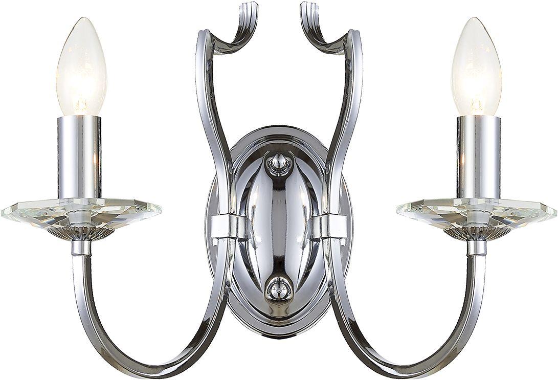 Kinkiet Riga W02779CH COSMOLight srebrna oprawa w stylu klasycznym