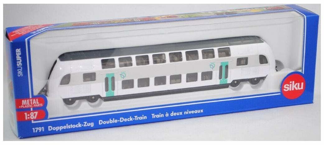 siku 1791001, dwupiętrowy pociąg RATP Francja, 1:87, metal/tworzywo sztuczne, turkusowy/biały, kompatybilny z innymi zabawkami siku