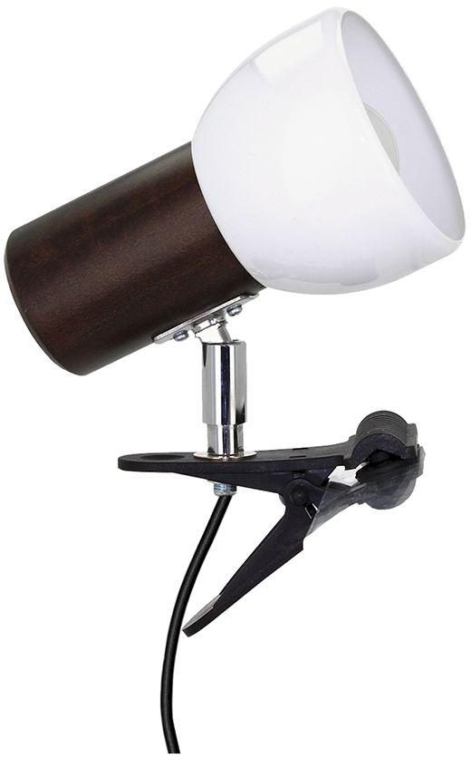 Spot Light 2224176K Svenda Clips kinkiet lampa ścienna orzech/czarny klosz metal biały 1xE27 60 W IP20 15cm