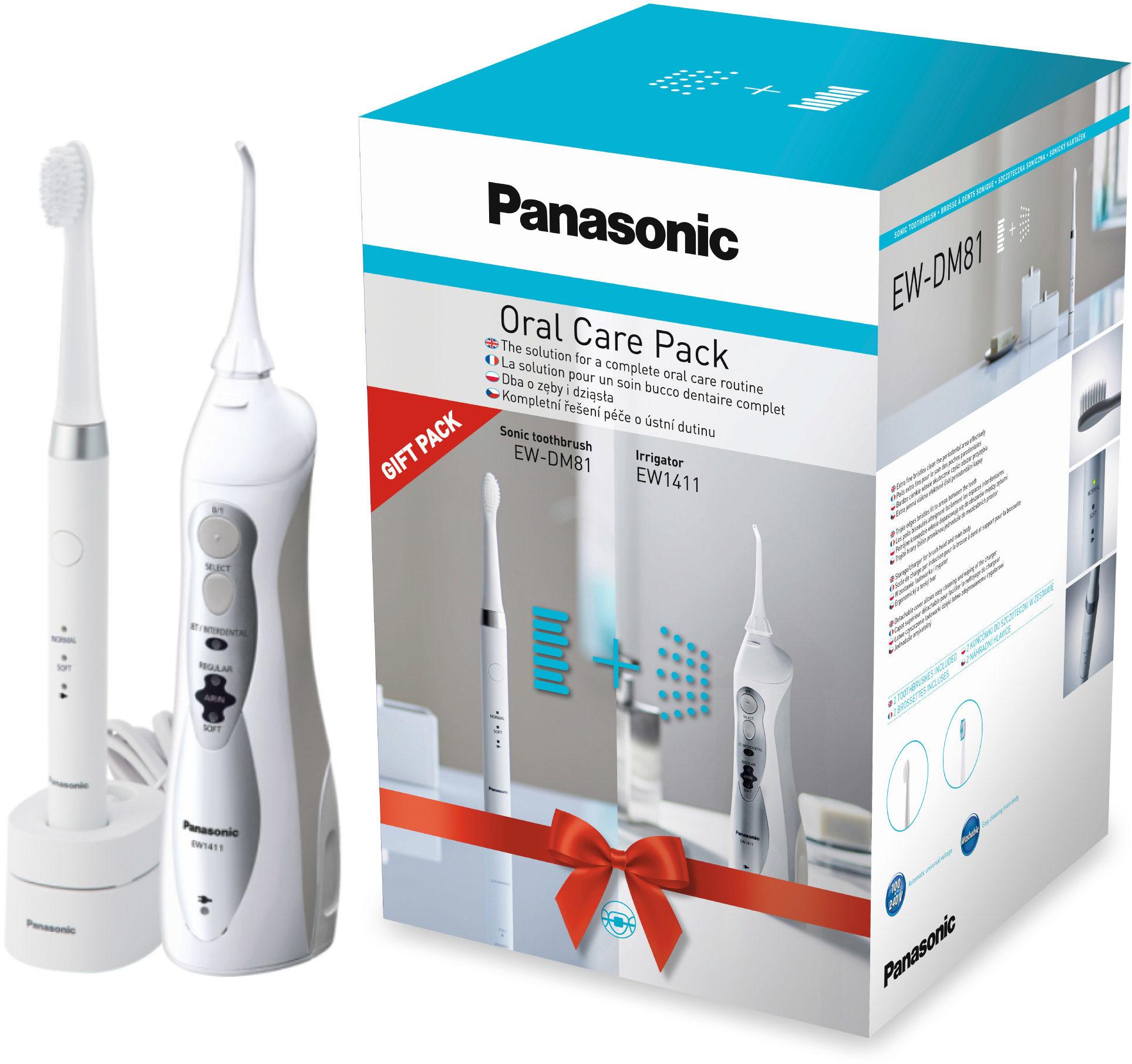 Zestaw Panasonic DM81 + EW1411 Zestaw Szczoteczka Soniczna + Irygator