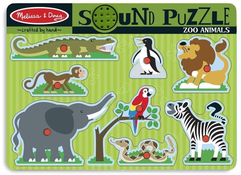 Puzzle Dźwiękowe Układanka Zwierzęta z Zoo Melissa and Doug 10727
