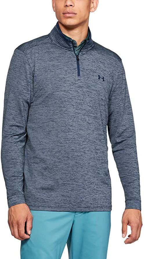 Under Armour Playoff 2.0 męska koszulka funkcyjna z zamkiem , wygodna i z długim rękawem, oddychająca koszulka polo z luźnym dopasowaniem niebieski Academy / / Academy (408) XL