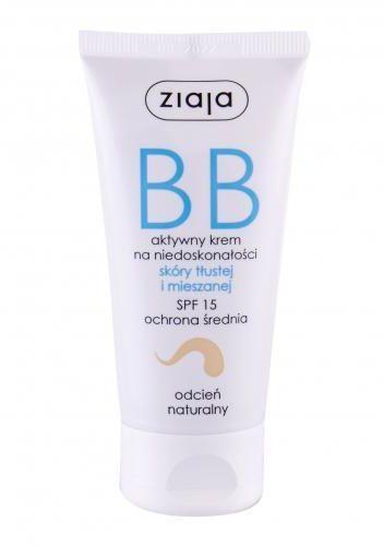 Ziaja BB Cream Oily and Mixed Skin SPF15 krem bb 50 ml dla kobiet Natural