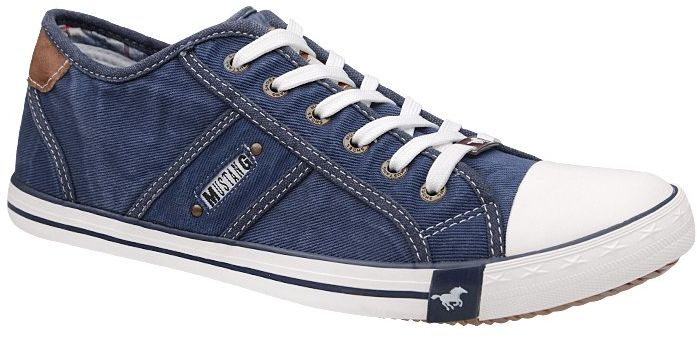 Trampki MUSTANG 36A034 Jeans 4058-305-841 Jeans Blau - Jeans Granatowy Niebieski