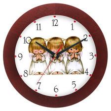 Zegar drewniany solid aniołki