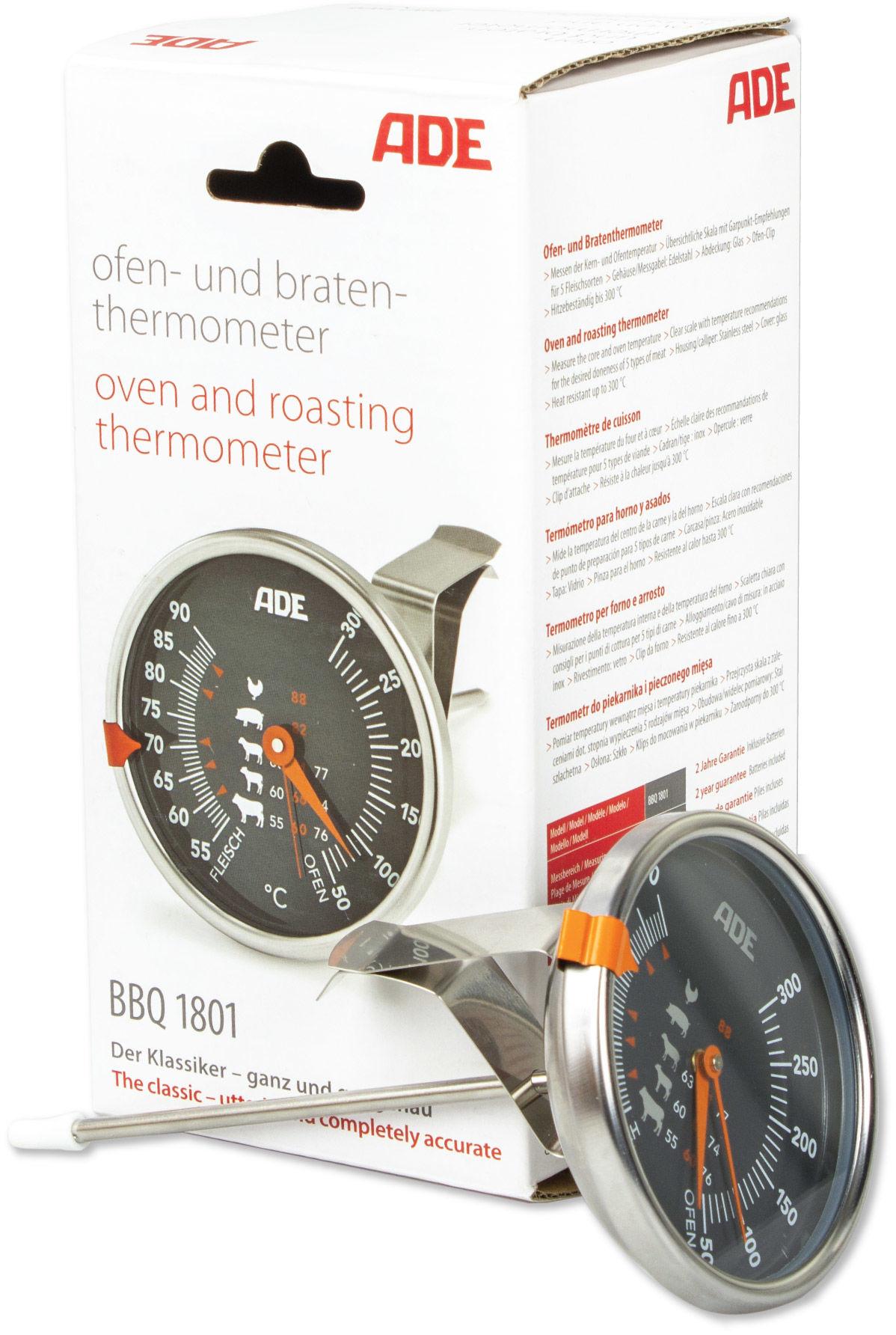 ADE BBQ1801 Zegarowy termometr do mięsa