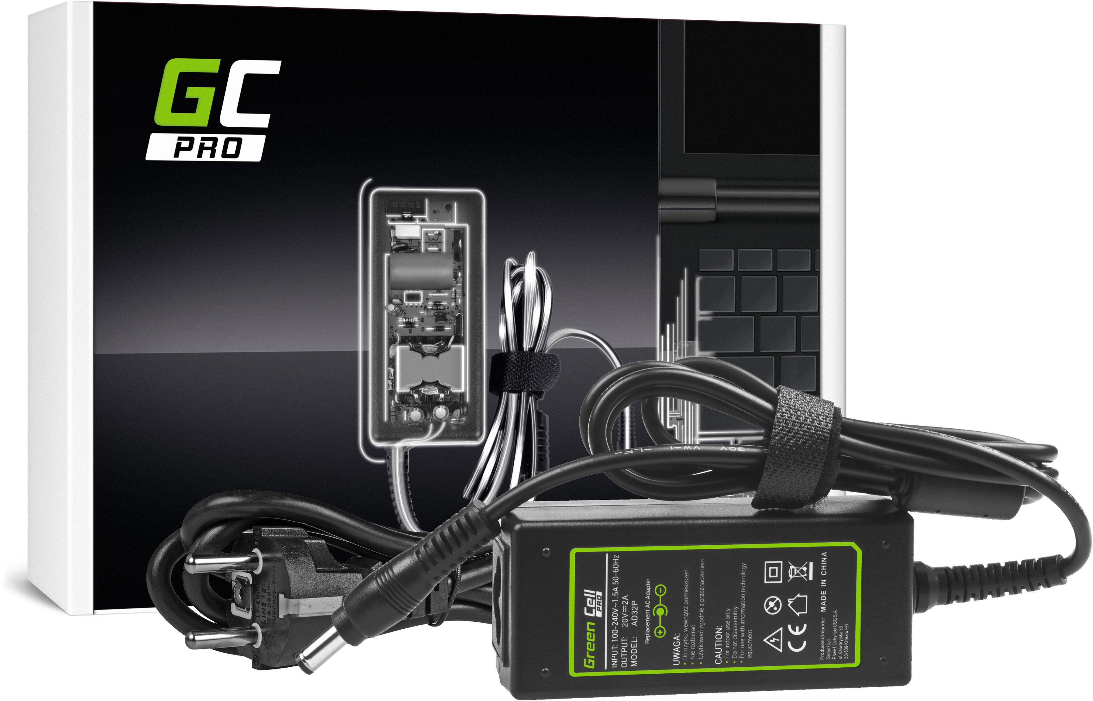 Zasilacz Ładowarka Green Cell PRO 20V 2A 40W do Lenovo B470 G475 G485 G575 G585 IdeaPad S10 S10e S100 S205 S310 S400 U310 U350