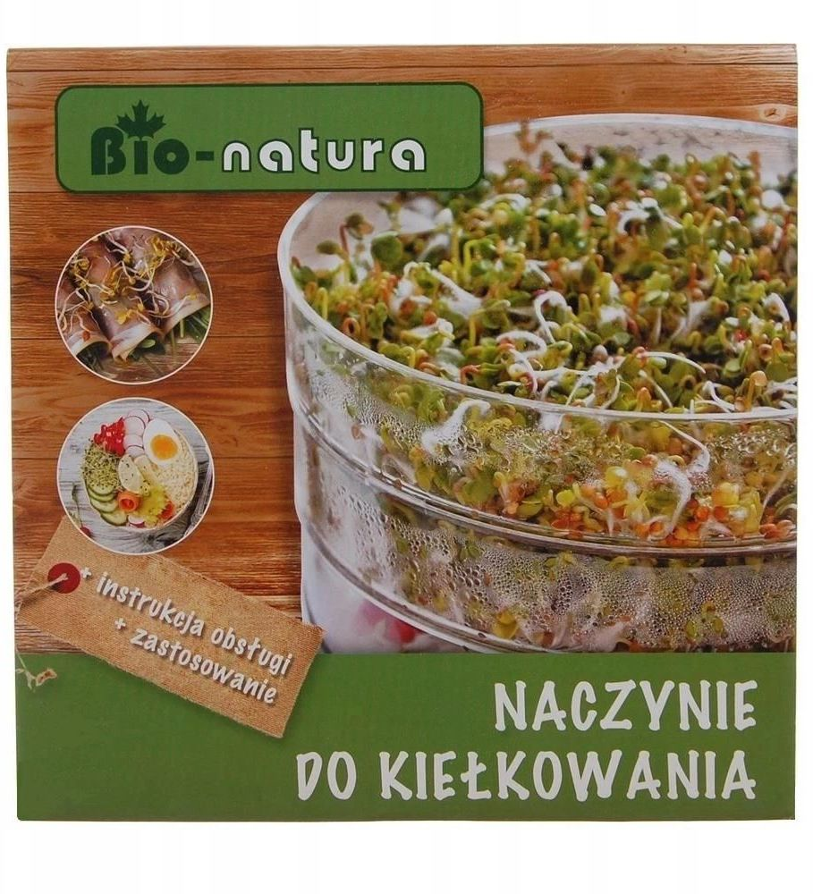 Naczynie do kiełków - plastikon bio natura