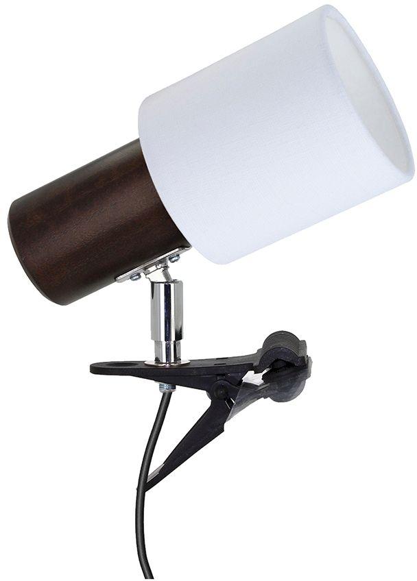 Spot Light 2236176K Treehouse Clips kinkiet lampa ścienna orzech/czarny abażur tkanina biały 1xE27 25W IP20 18cm