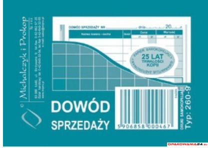 260-9 Dowód sprzedaży MICHALCZYK&PROKOP A7 80 kartek