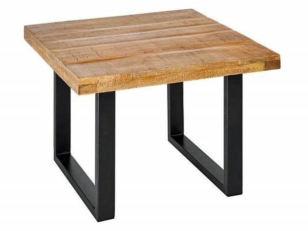Stolik kawowy z drewnianym blatem do salonu - Rotti 2X