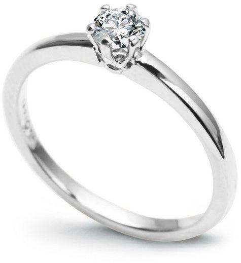 Staviori pierścionek. 1 diament, szlif brylantowy, masa 0,25 ct., barwa g, czystość si1. białe złoto 0,585. średnica korony ok. 4,9 mm. wysokość 4,6 mm. szerokość obrączki ok. 1,8 mm.