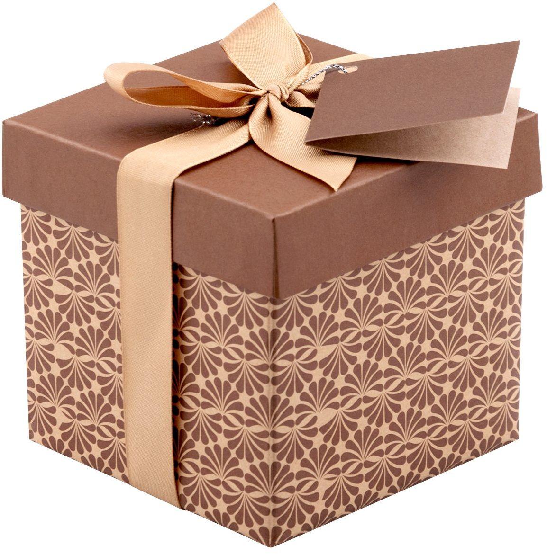 Pudełko na prezent brązowe XS