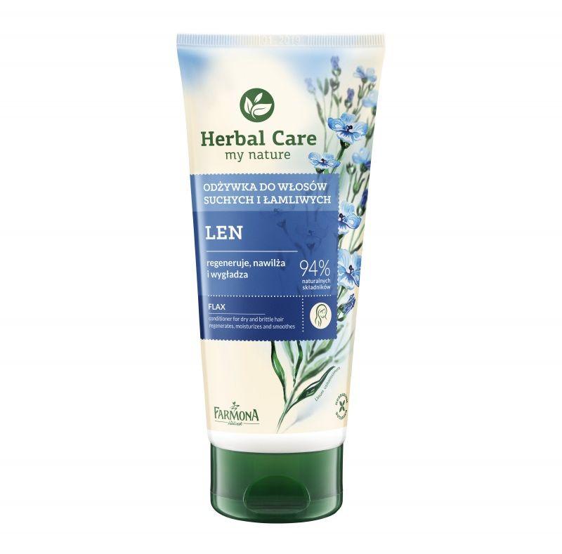 Odżywka do włosów suchych i łamliwych LEN HERBAL CARE 200ml