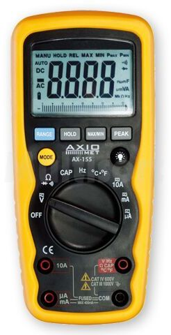 Multimetr cyfrowy Axiomet AX-155 z TrueRMS i bargrafem