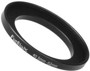 Fotodiox 40,5-52 mm, metalowy pierścień krokowy 40,5-52 mm - anodowany czarny metal, 10sr40552