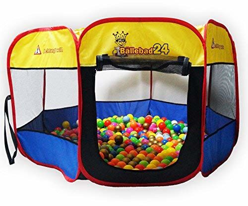 Bällebad24.de Maxzone, basen z piłkami dla dzieci, 120 cm, domek do zabawy, uwaga, dziki