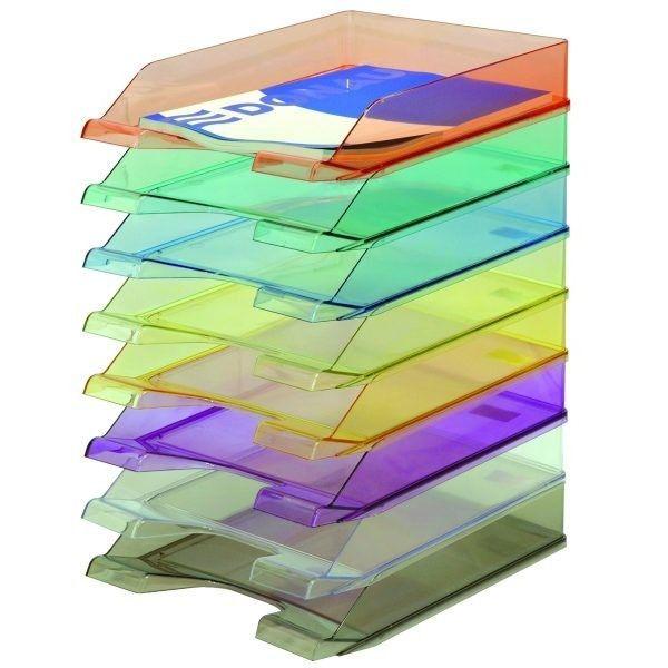 Półka na dokumenty DONAU STANDARD w transparentnych kolorach