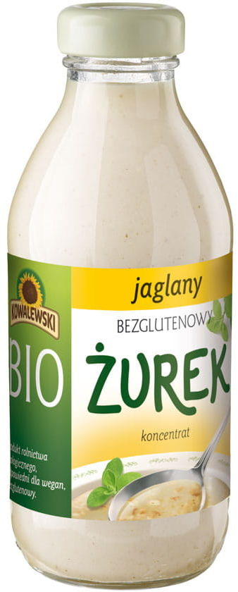 Żurek jaglany bezglutenowy koncentrat bio 320 ml - kowalewski