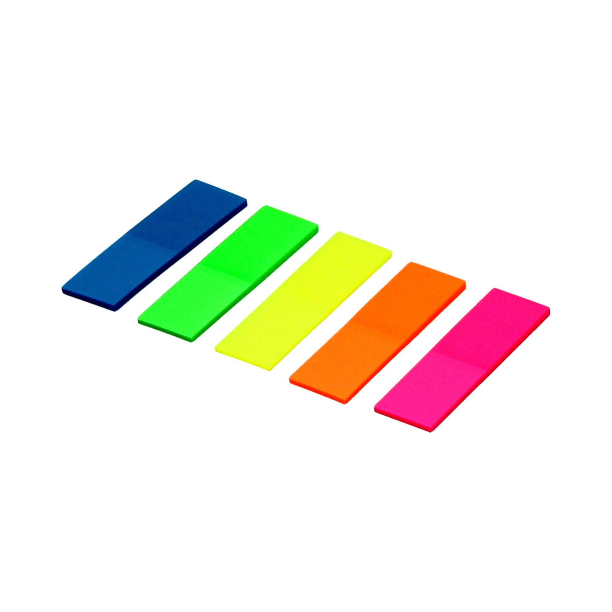 Zakładki indeksujące 12x45/25 5kol/fluo Memo Dalpo