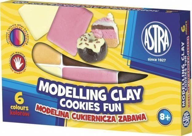 Modelina cukiernicza zabawa 6 kolorów ASTRA - ASTRA papiernicze
