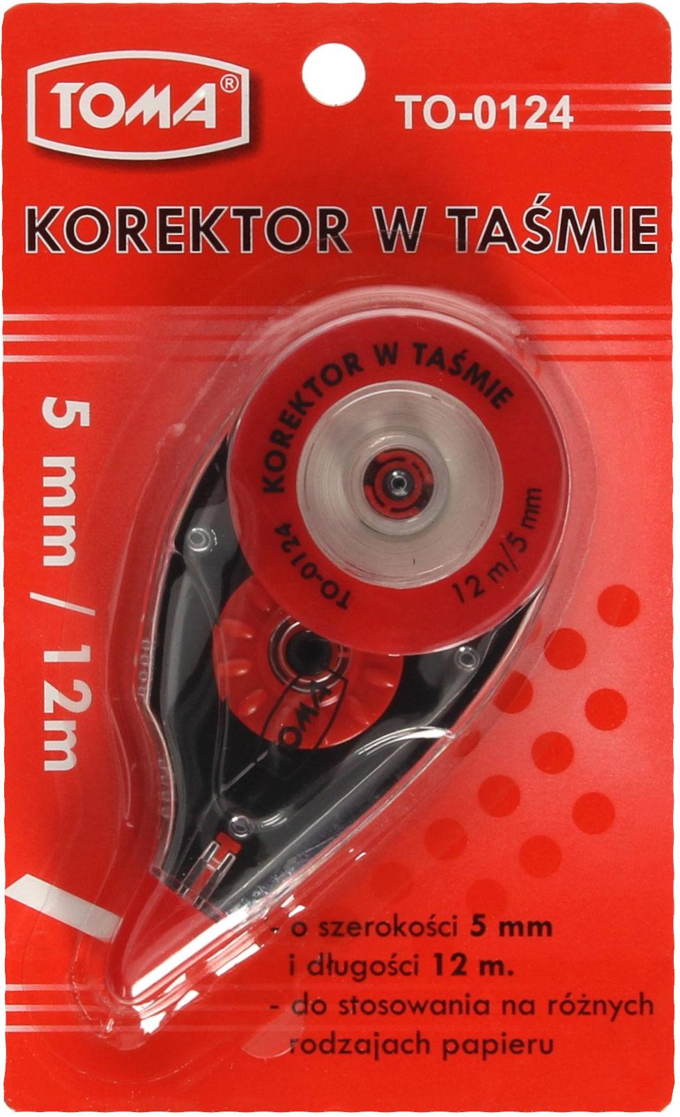 Korektor taśma 5mmx12m Toma TO-01241