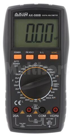 Multimetr cyfrowy AX-588B z pomiarem indukcyjności