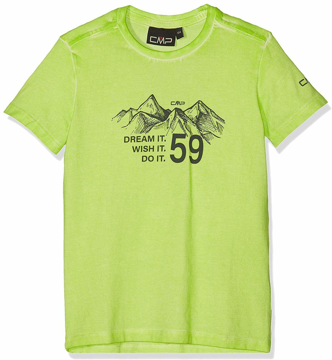 CMP T-shirt chłopięcy 38t6874 beżowy bambus 128