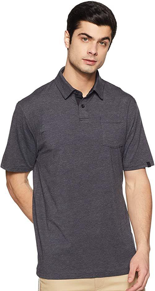Under Armour Męska koszulka polo Charged Cotton Scramble Polo, oddychająca koszulka sportowa, szeroki krój koszulka polo dla mężczyzn szary (grafitowy) M