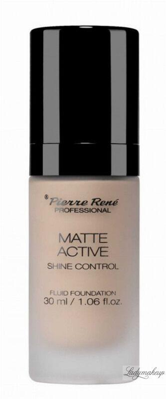 Pierre René - MATTE ACTIVE SHINE CONTROL FLUID FOUNDATION - Matujący podkład do twarzy - 02 PORCELAIN
