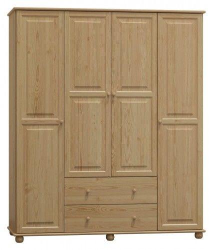 Szafa drewniana sosnowa czterodrzwiowa 180cm (nr kat 76)