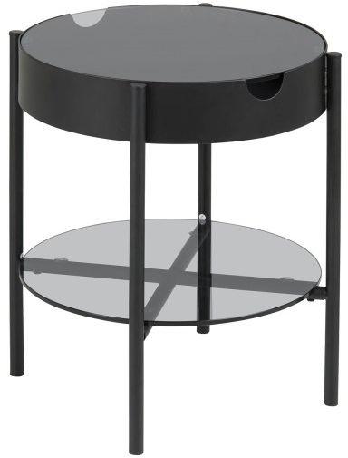 Stolik TIPTON S czarny-dymiony