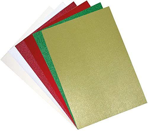 Sizzix Surfacez 664694, karton, 60 sztuk, perła i brokat, świąteczny